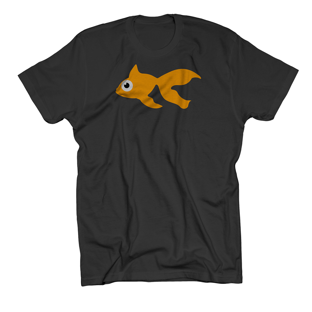 Buy Online GoldFish - Blinky Tee - Orange / Black