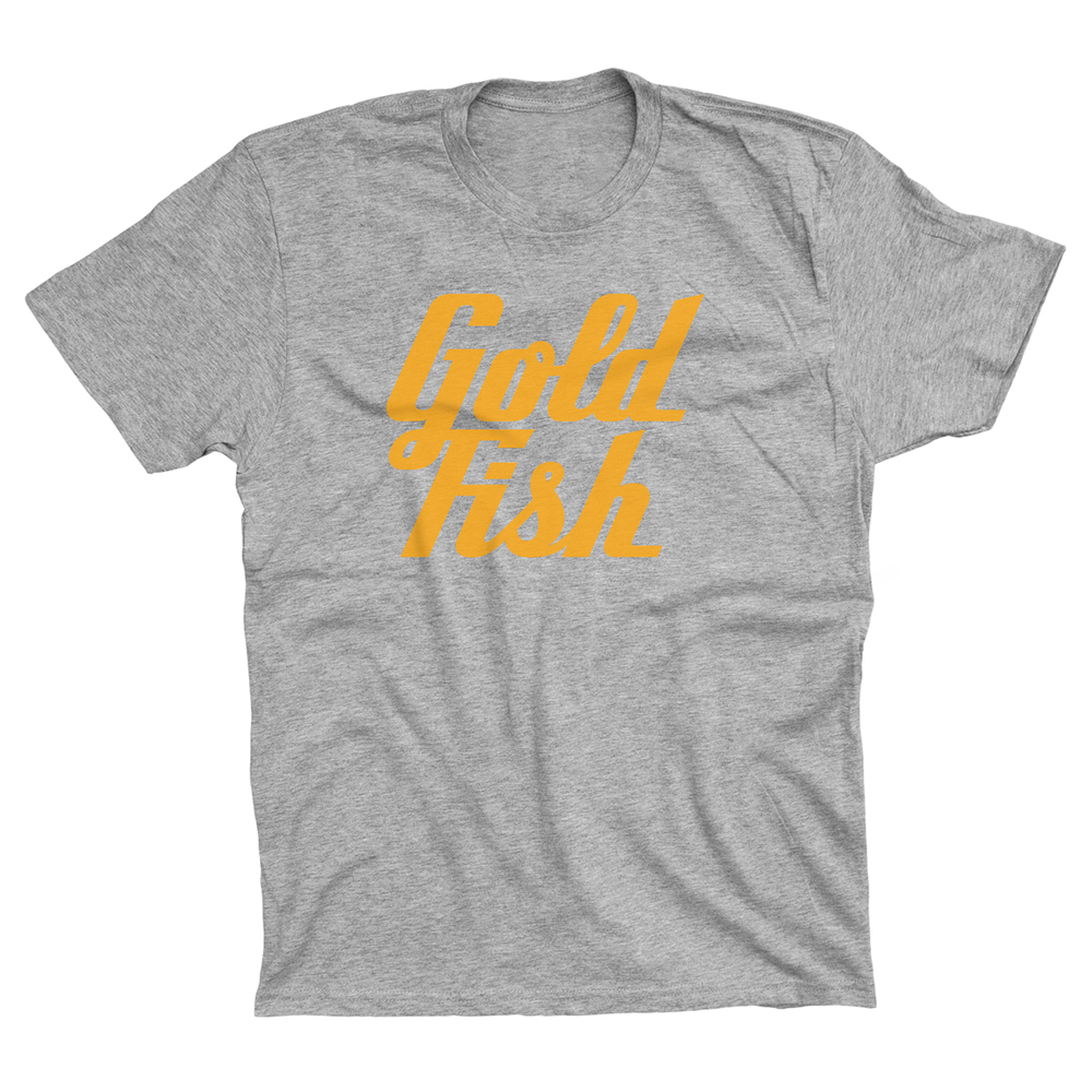 Buy Online GoldFish - Goldfish Tee - Orange / Heather Grey