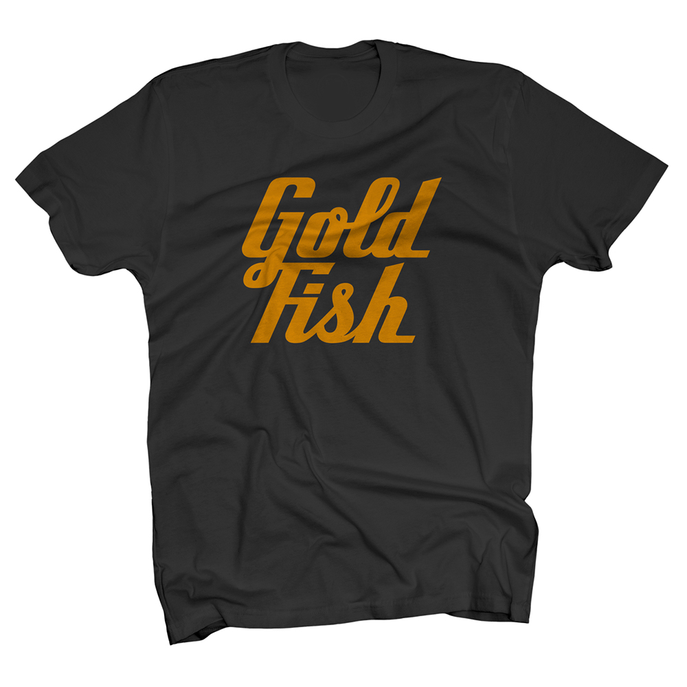 Buy Online GoldFish - Goldfish Tee - Orange / Black