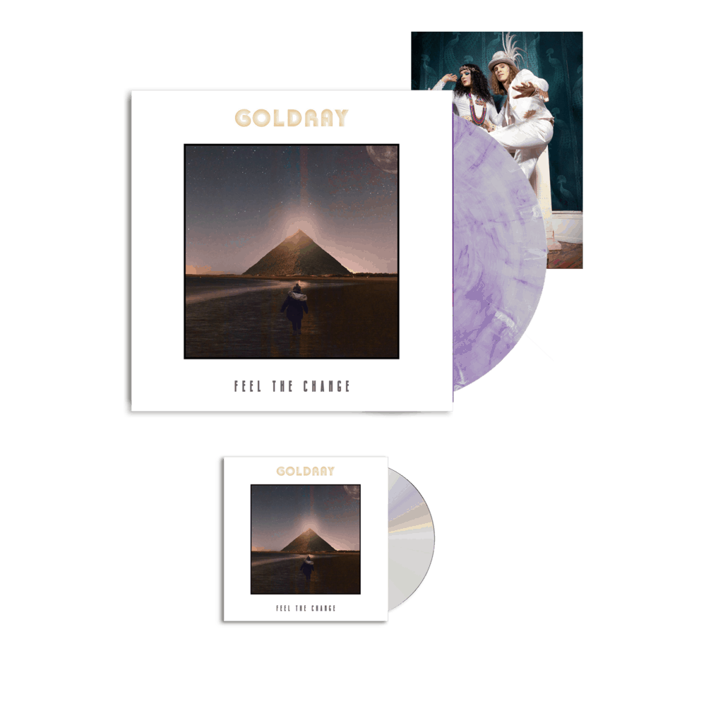 Buy Online Goldray - Feel The Change - CD + Purple/White Marble Gatefold Vinyl  (Ltd Edition) + Photo Print (Signed)