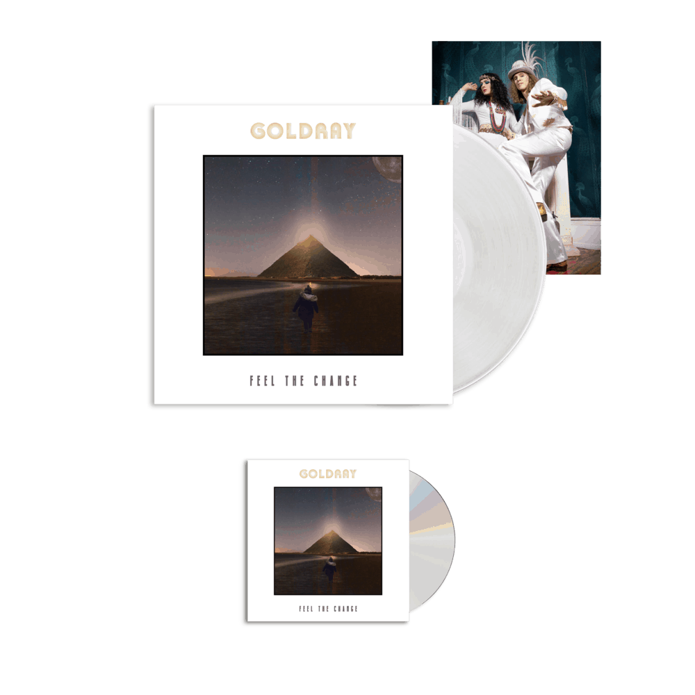 Buy Online Goldray - Feel The Change - CD + White Gatefold Vinyl + Photo Print (Signed)