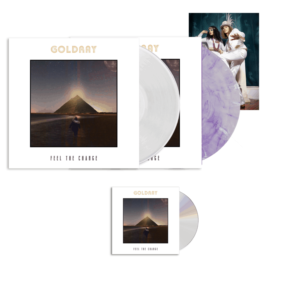 Buy Online Goldray - Feel The Change - CD + Purple/White Marble Gatefold Vinyl  (Ltd Edition) + White Gatefold Vinyl + Photo Print (Signed)