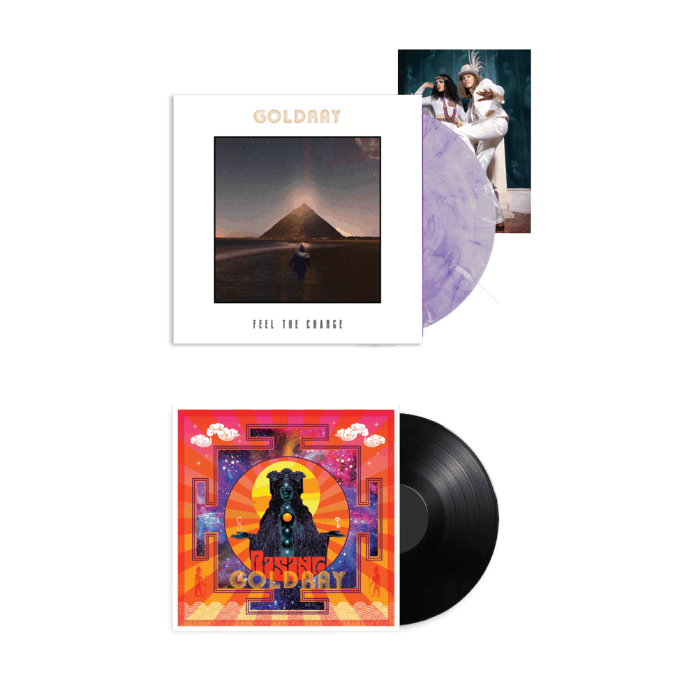 Buy Online Goldray - Feel The Change - Purple/White Marble Gatefold Vinyl (Ltd Edition) + Rising Vinyl + Photo Print (Signed)
