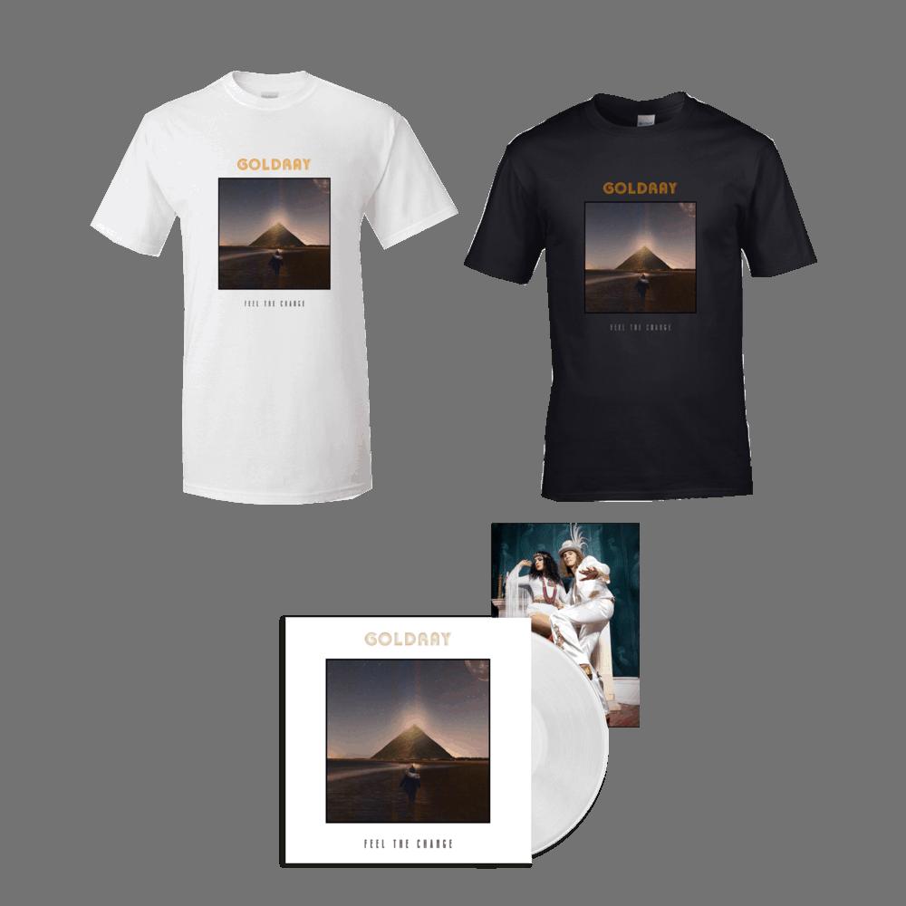 Buy Online Goldray - Feel The Change - White Gatefold Vinyl + T-Shirt Bundle