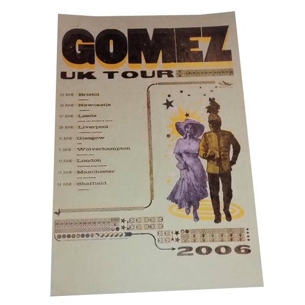 Buy Online Gomez - Summer 2006 Tour Poster