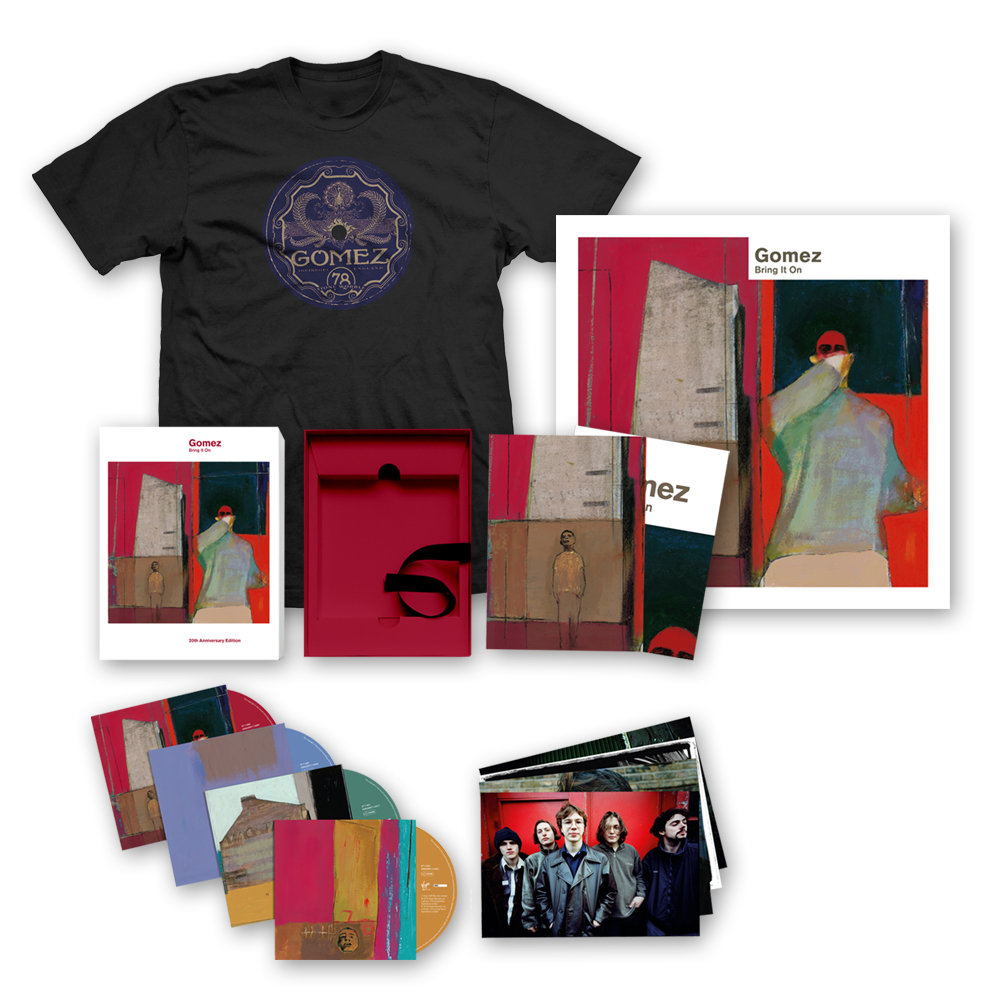 Buy Online Gomez - Bring It On: 20th Anniversary 4CD Set + Ltd Edition Print (Signed) + T-Shirt