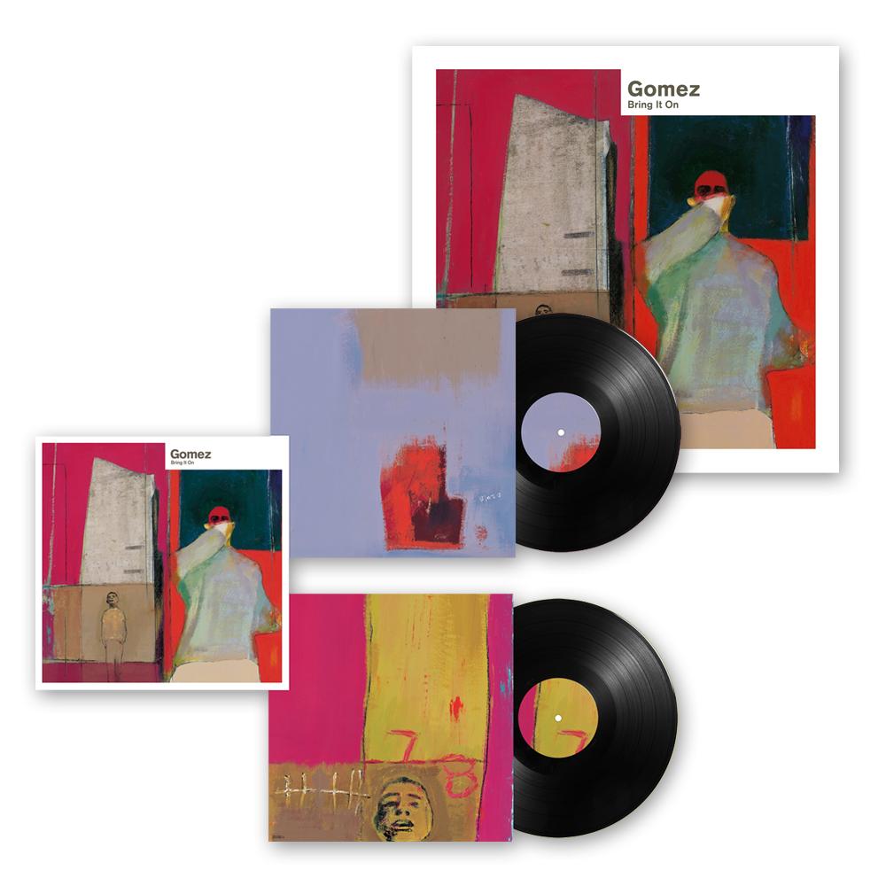 Buy Online Gomez - Bring It On: 20th Anniversary 2LP Black Vinyl + Ltd Edition Print (Signed)