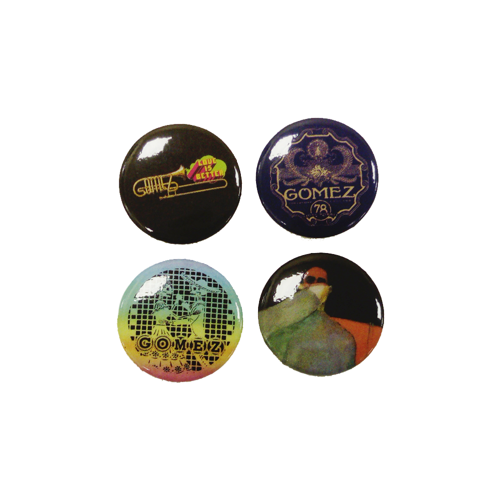 Buy Online Gomez - 20th Anniversary Tour Badge Set