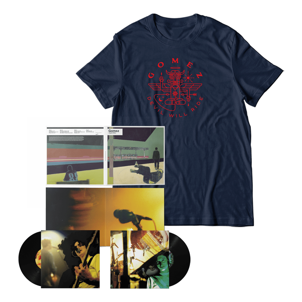 Buy Online Gomez - Liquid Skin 20th Anniversary 2xLP + T-Shirt Bundle