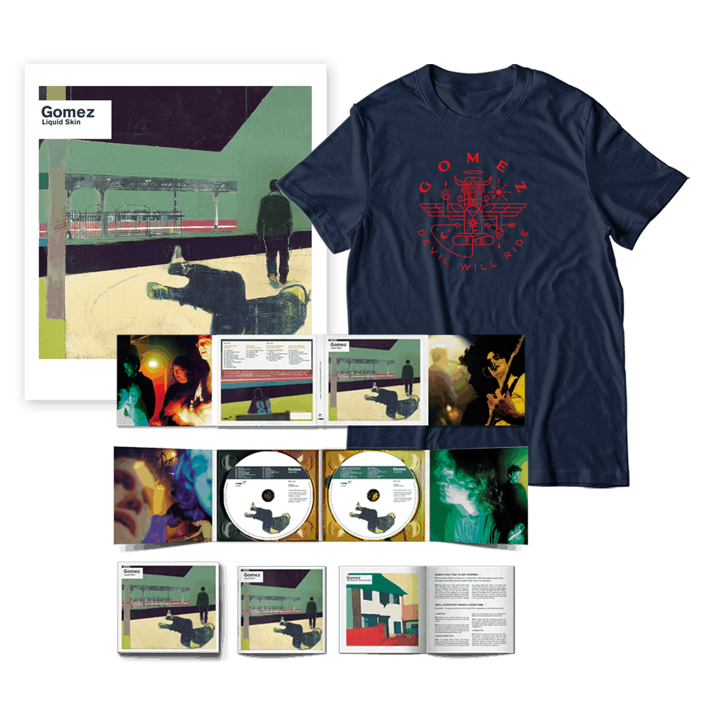 Buy Online Gomez - Liquid Skin 20th Anniversary Edition 2CD + T-Shirt + Limited Edition Print Bundle