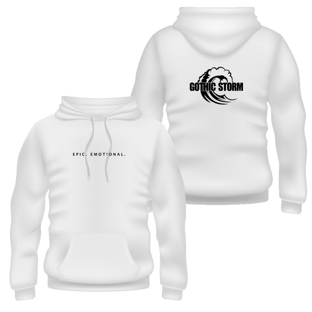 Buy Online Gothic Storm - Epic . Emotional. White Hoodie