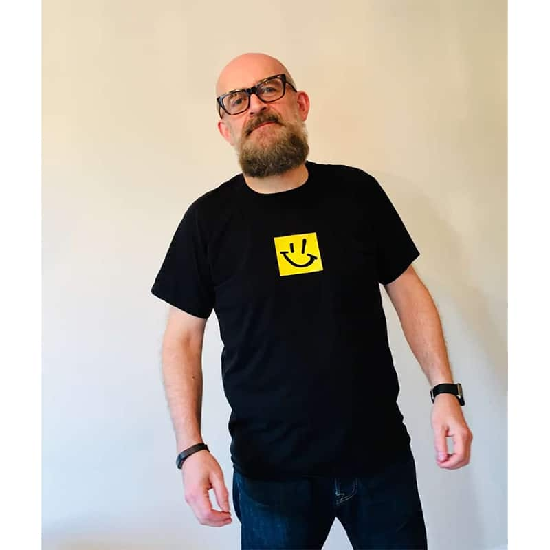 Buy Online Graeme Park DJ - Graeme Park Black Smiley Logo T-Shirt
