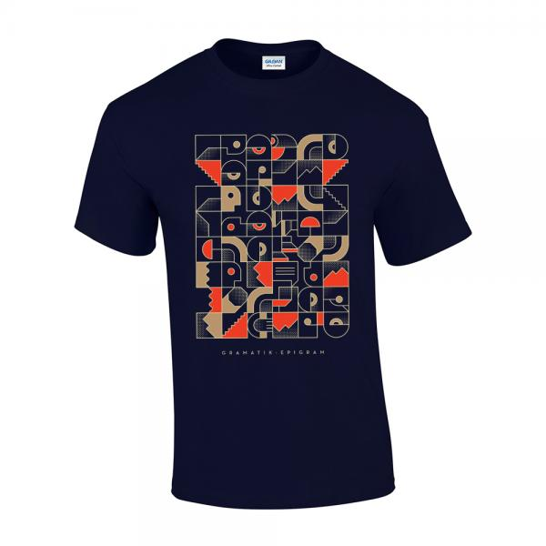 Buy Online Gramatik - Epigram Navy T-Shirt (Tesla Version)