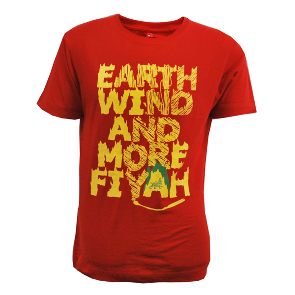Buy Online Greensleeves Records - Earth, Wind And More Fiyah T-Shirt