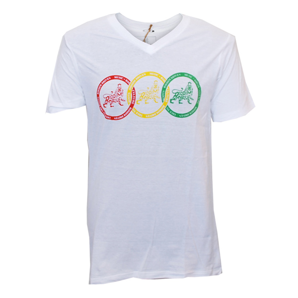 Buy Online Greensleeves Records - Red, Yellow, Green Rings T-Shirt