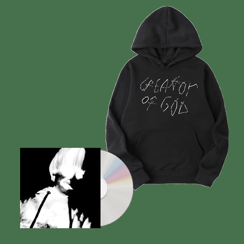 Buy Online Greg Puciato - Child Soldier: Creator of God CD + Creator of God Hoodie