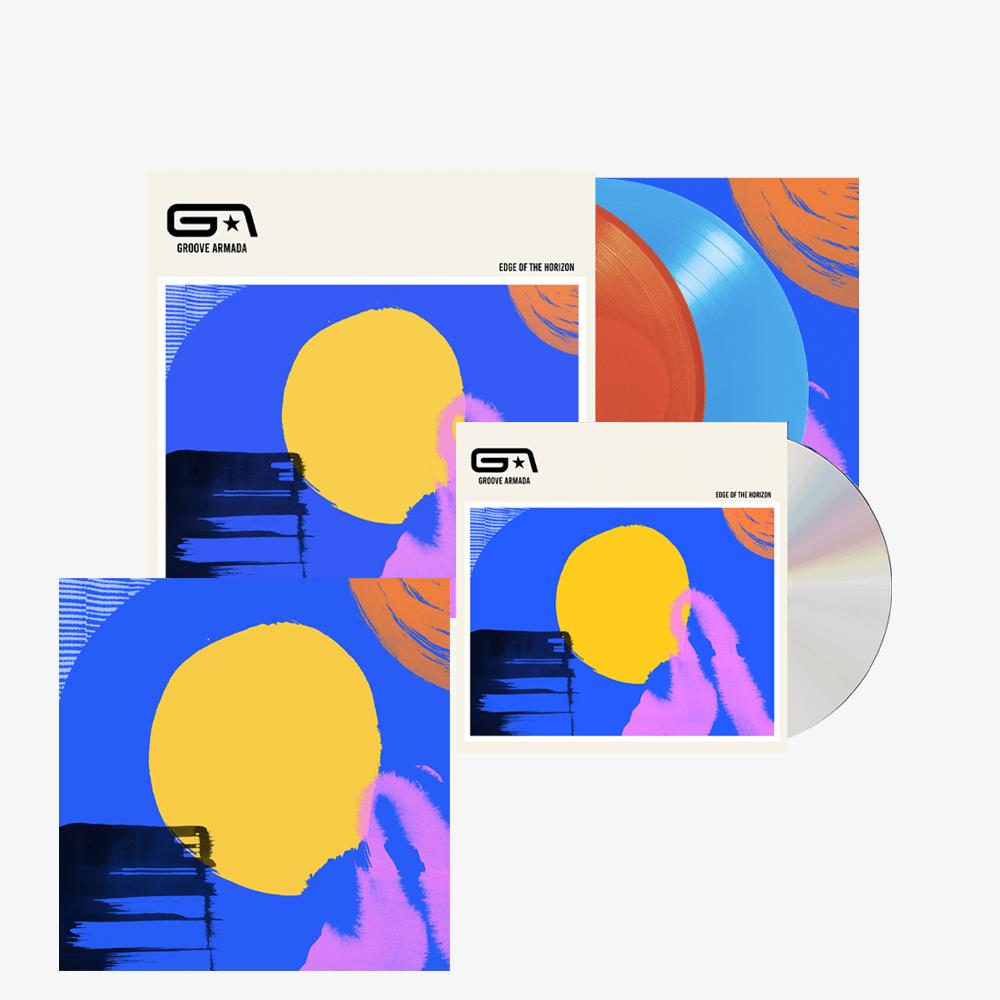 Buy Online Groove Armada - Edge Of The Horizon CD + Double Coloured Vinyl (Inc. Signed Print)