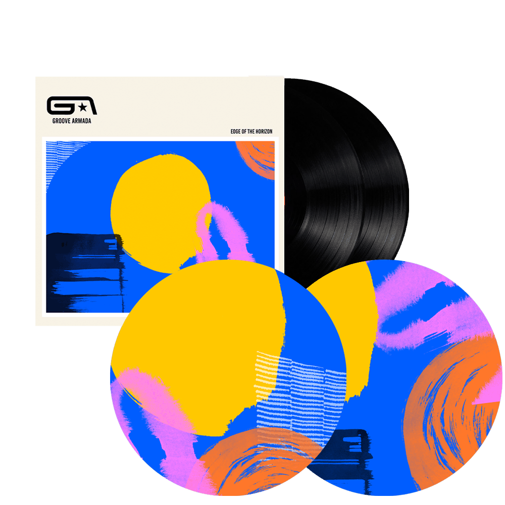 Buy Online Groove Armada - Edge Of The Horizon Double Black Vinyl + Slipmats (2 Pack)