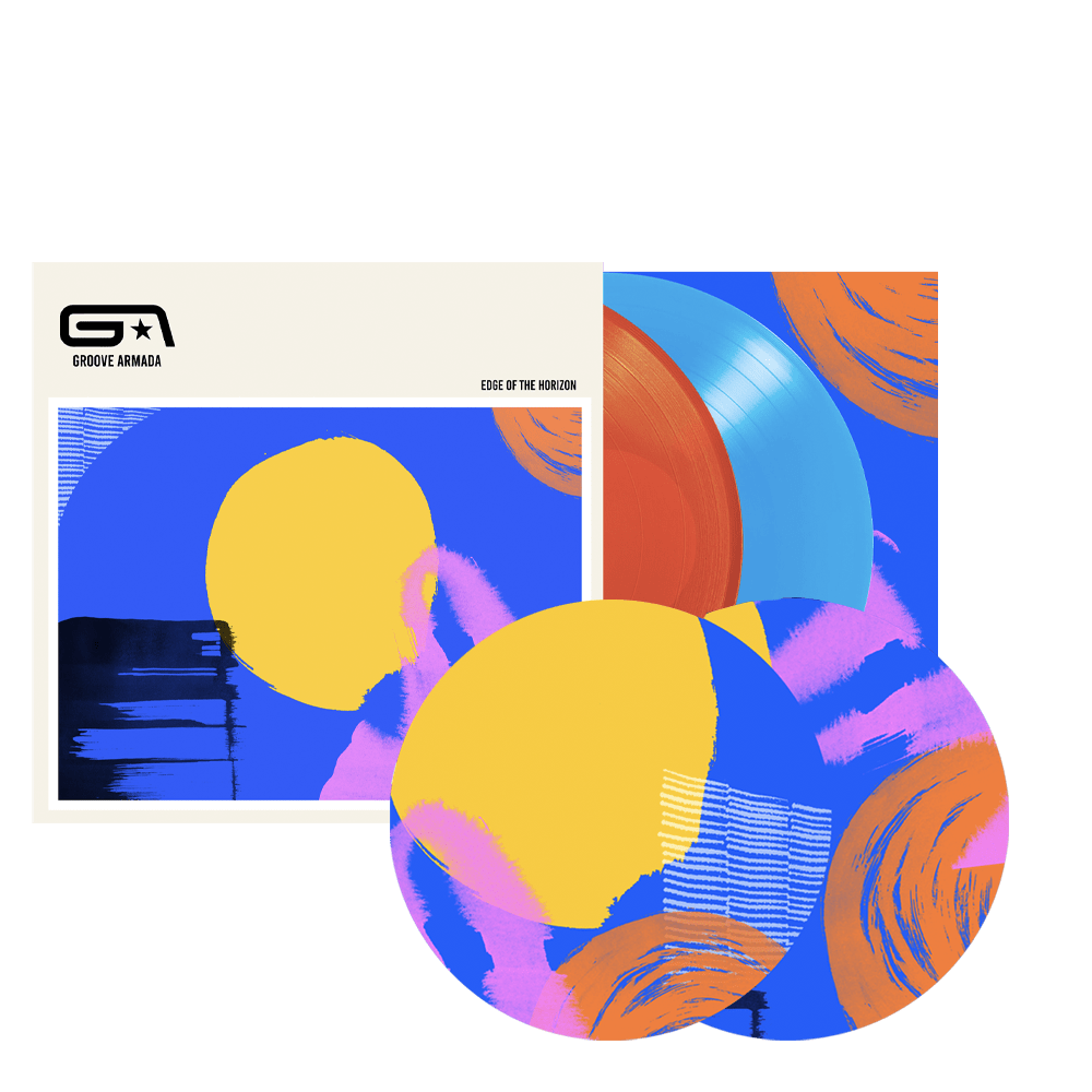 Buy Online Groove Armada - Edge Of The Horizon Coloured Vinyl + Slipmats (2 Pack) (Inc. Signed Print)