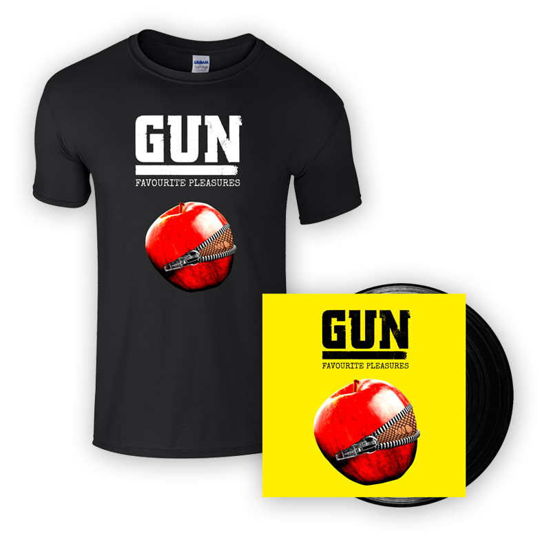 Buy Online Gun - Favourite Pleasures Vinyl + T-Shirt