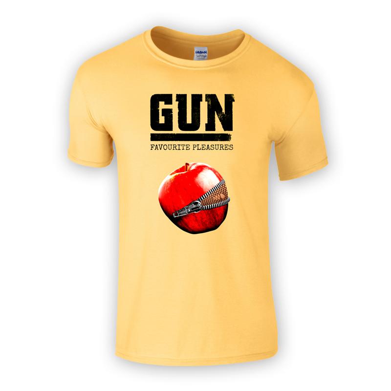 Buy Online Gun - Favourite Pleasures Yellow T-Shirt