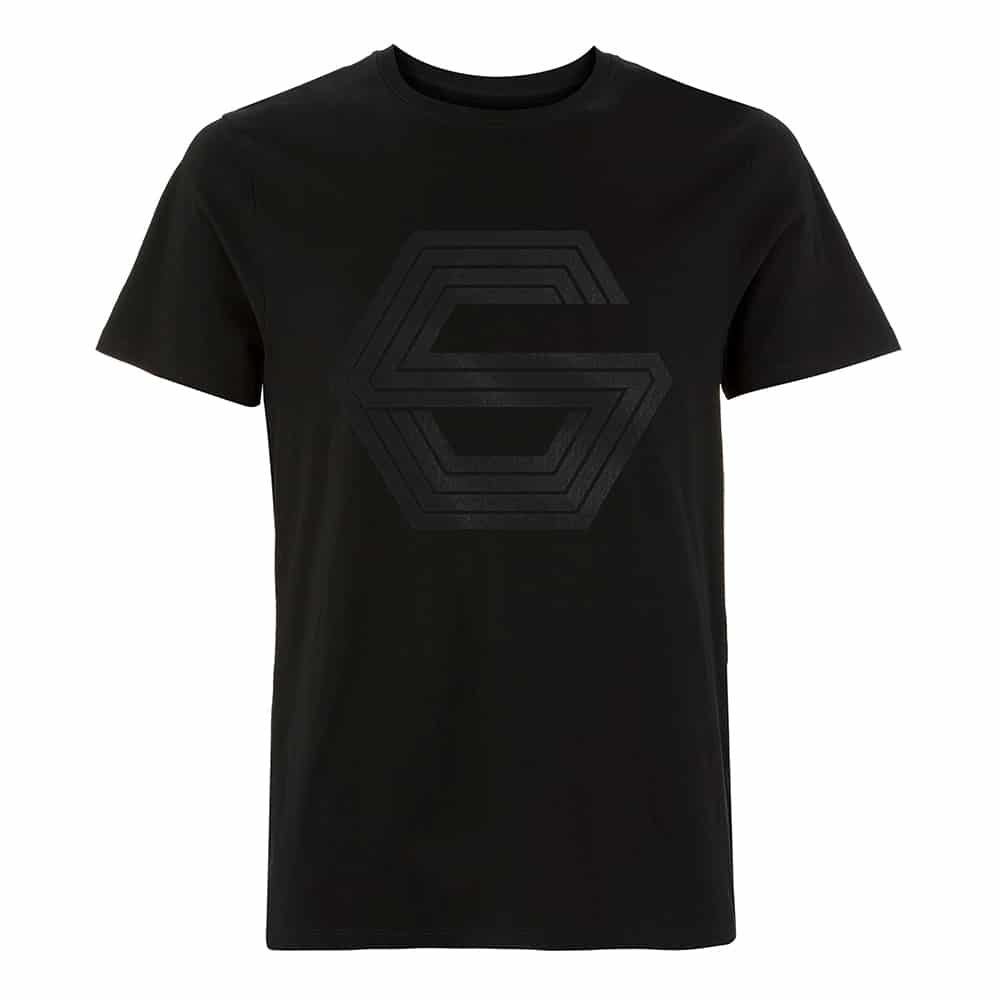 Buy Online GUNSHIP - Black on Black G Logo T-Shirt