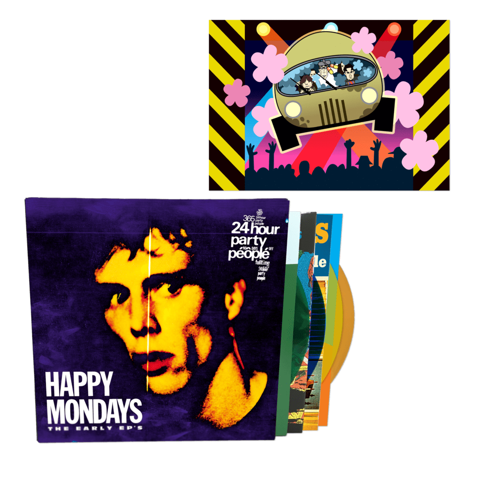 Buy Online Happy Mondays - The Early EPs Coloured Vinyl Boxset + Limited Edition A4 Print (Exclusive)