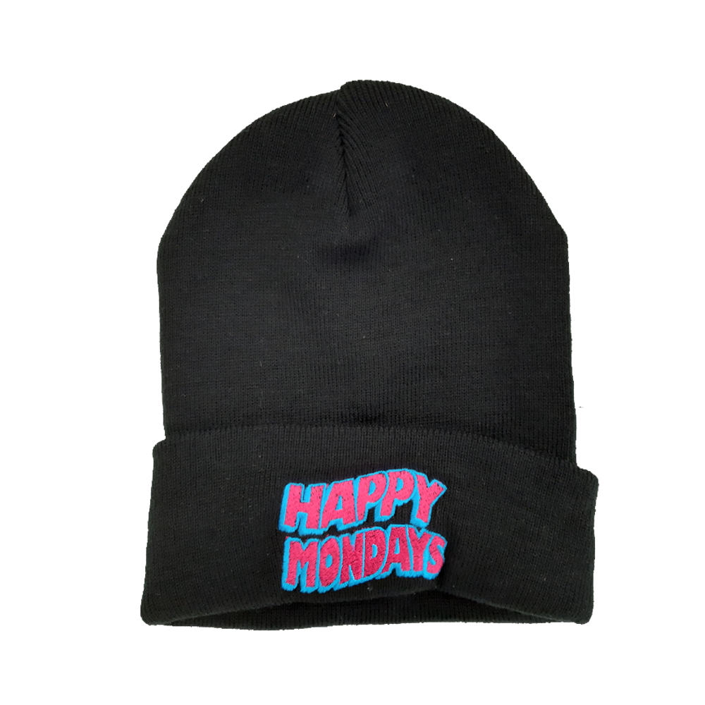 Buy Online Happy Mondays - Embroidered Wavey Logo Beanie