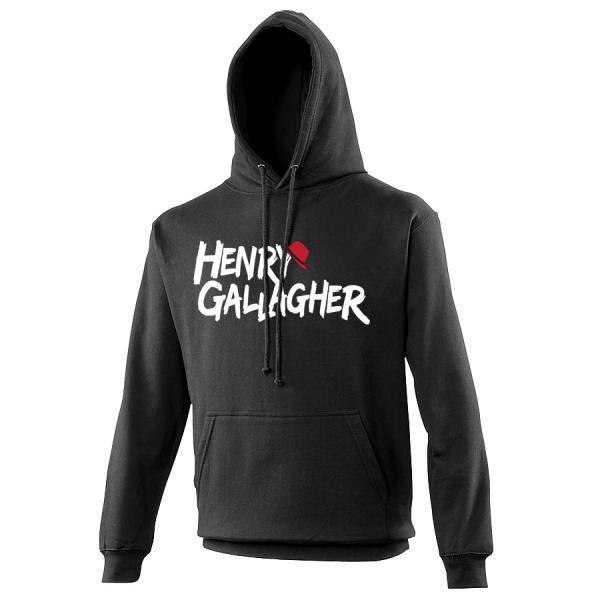 Buy Online Henry Gallagher - Black Text Logo Hoody
