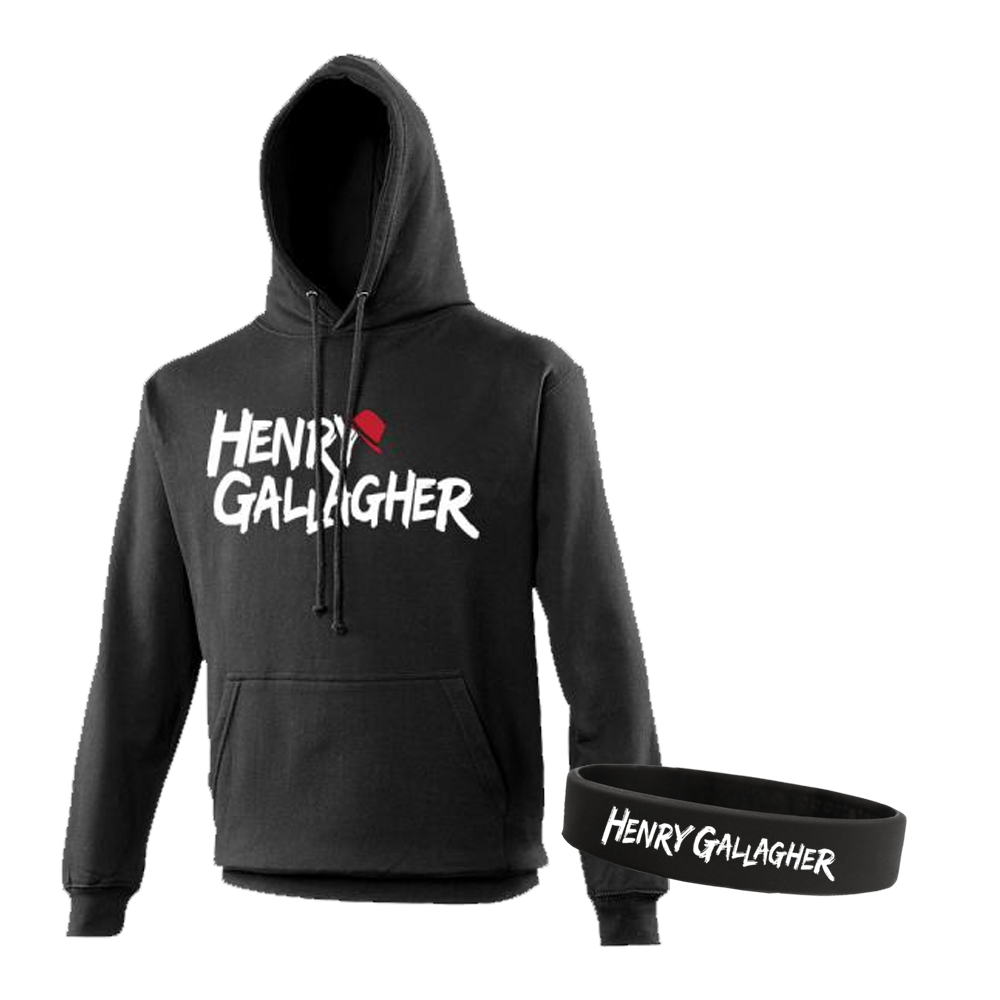 Buy Online Henry Gallagher - Henry Gallagher Logo Black Hoodie + Wristband