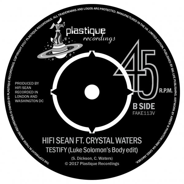 Buy Online HiFi Sean - Testify (Feat. Crystal Waters) 7-Inch Vinyl (Signed)