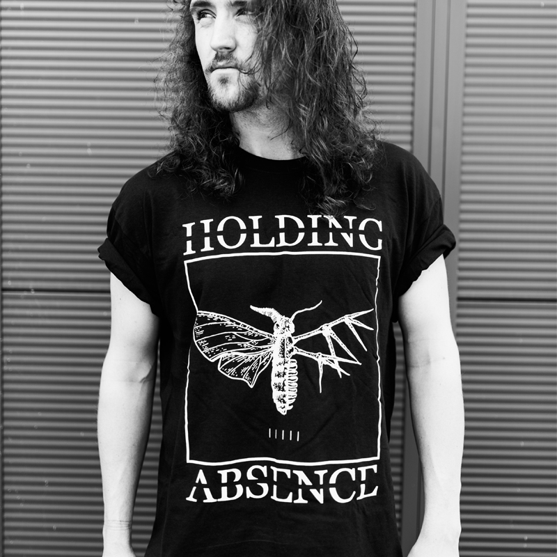 Buy Online Holding Absence - Moth Logo T-Shirt (Black)