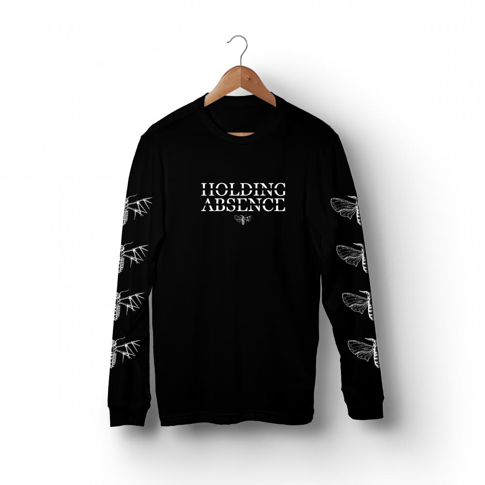 Buy Online Holding Absence - Moth Logo Long Sleeve T-Shirt