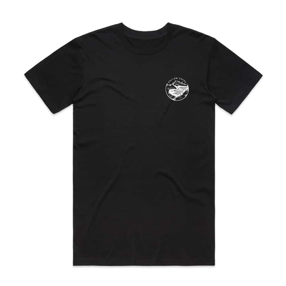 Buy Online Hollow Coves - Black Logo T-Shirt