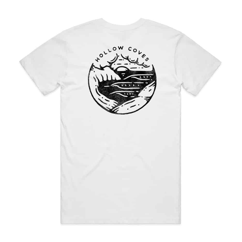 Buy Online Hollow Coves - White Logo T-Shirt