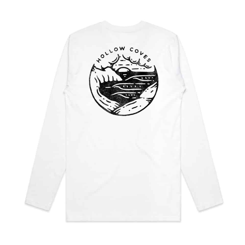 Buy Online Hollow Coves - White Long Sleeve T-Shirt