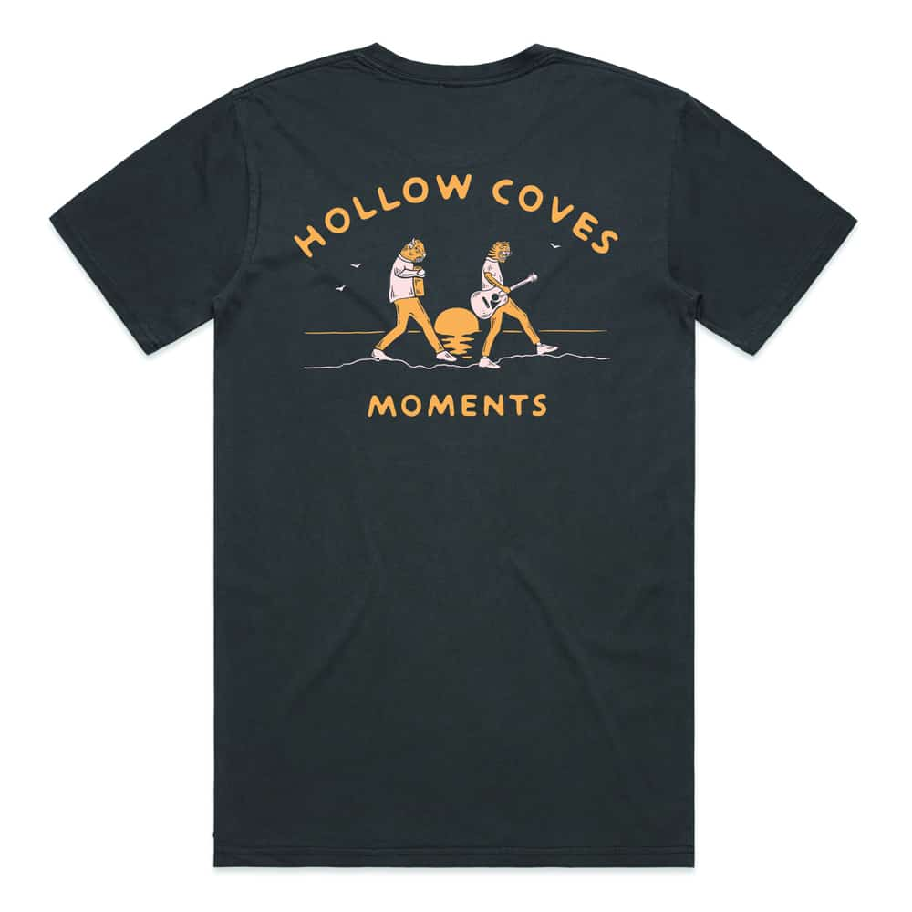 Buy Online Hollow Coves - Moments Faded Black T-Shirt
