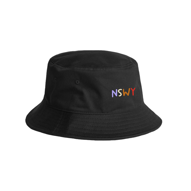 NSWY Embroidered Black Bucket Hat
