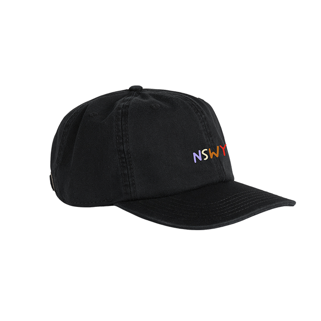 Buy Online Honne - Limited NSWY Embroidered Black Dad's Cap