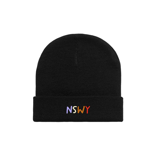 NSWY Embroidered Black Beanie