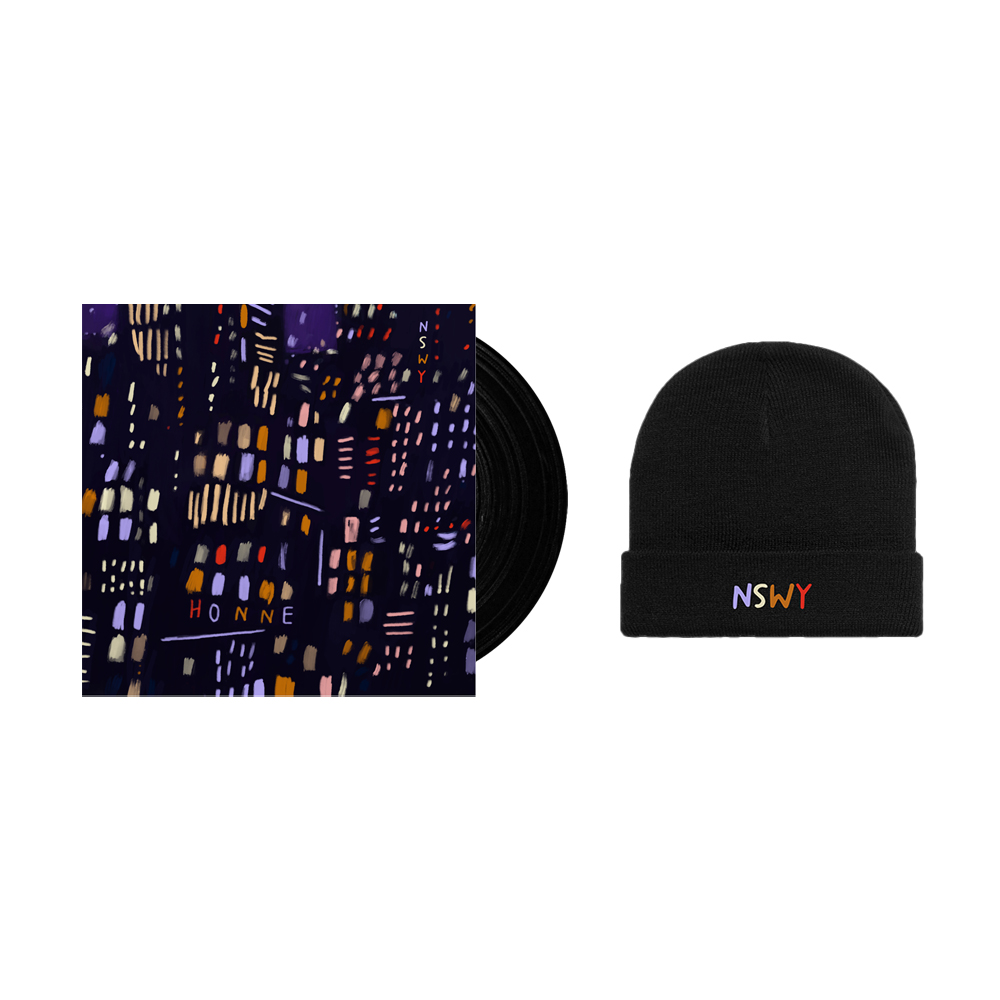 Buy Online HONNE - No Song Without You Vinyl + Limited NSWY Embroidered Black Beanie