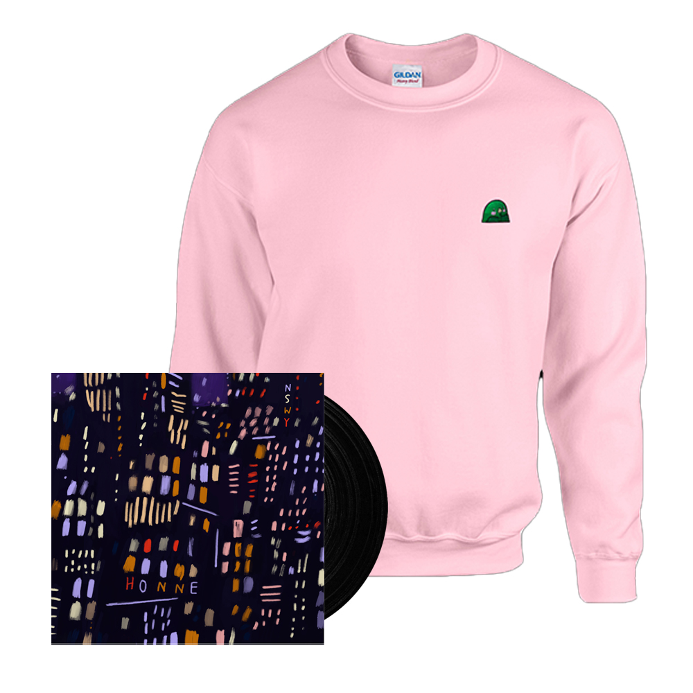 Buy Online HONNE - No Song Without You Vinyl + Limited Goo Light Pink Sweatshirt