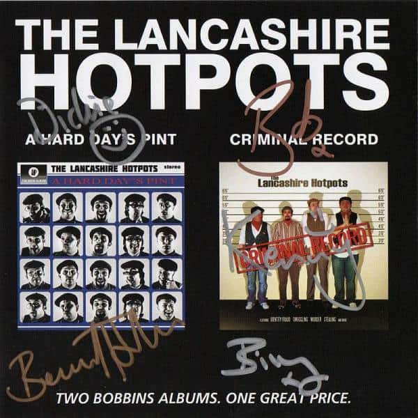 Buy Online The Lancashire Hotpots - A Hard Days Pint/Criminal Record (Signed)