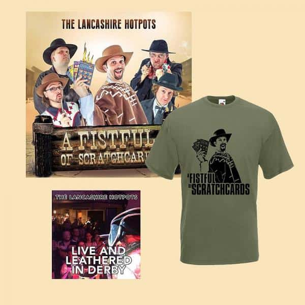 Buy Online The Lancashire Hotpots - A Fistful Of Scratchcards CD & T-Shirt