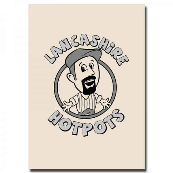 Buy Online The Lancashire Hotpots - Cartoon Bernard Tea Towel