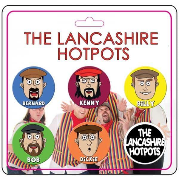 Buy Online The Lancashire Hotpots - Cartoon Badge Set