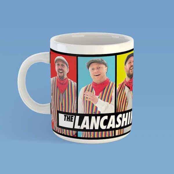 """Buy Online The Lancashire Hotpots - """"Five Colours"""" Lancashire Hotpots Mug"""
