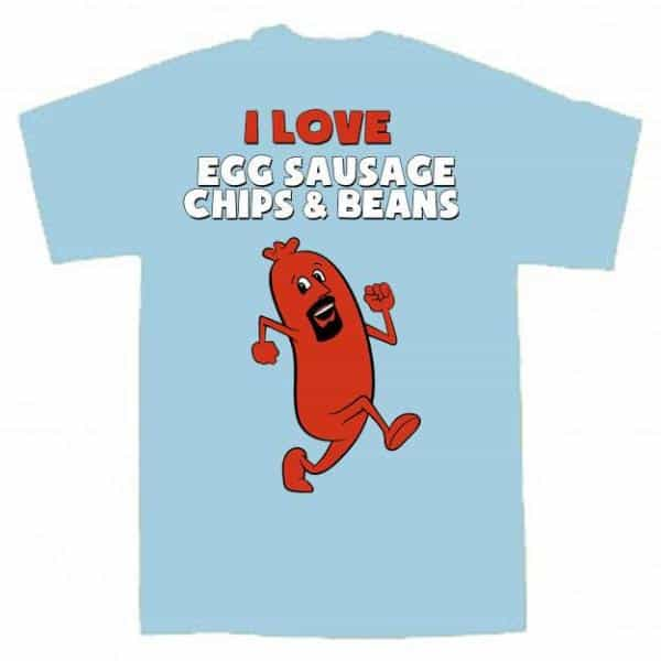 Buy Online The Lancashire Hotpots - Egg, Sausage Chips & Beans T-Shirt (Adult)