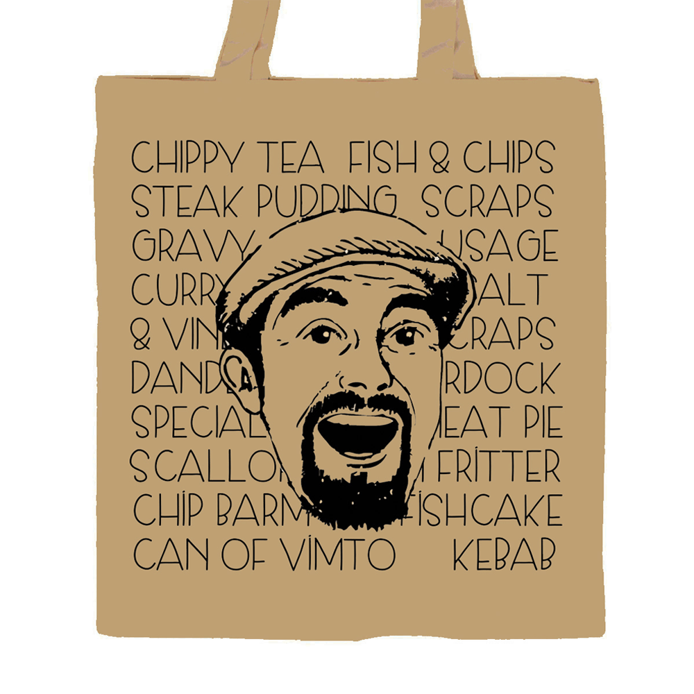 Buy Online The Lancashire Hotpots - Chippy Tea Tote Bag