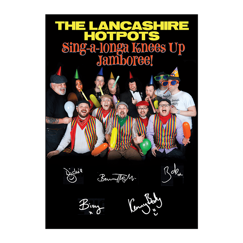 Buy Online The Lancashire Hotpots - Signed A4 Artwork